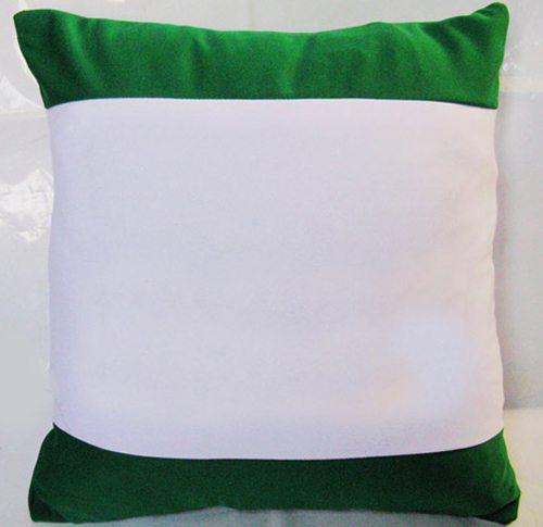 草绿色边彩抱枕