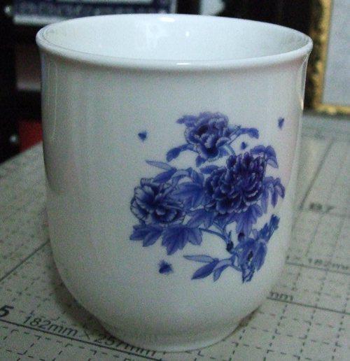 强化瓷小茶杯做上照片后效果图展示
