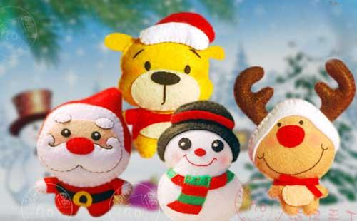 圣诞节不织布diy